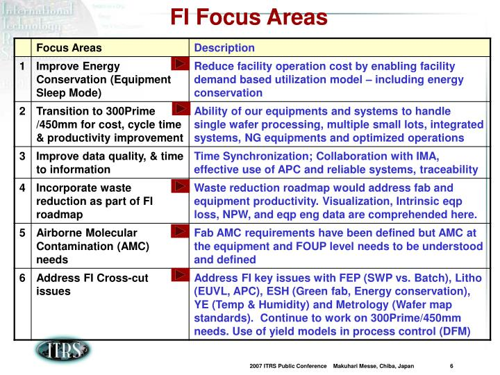 FI Focus Areas