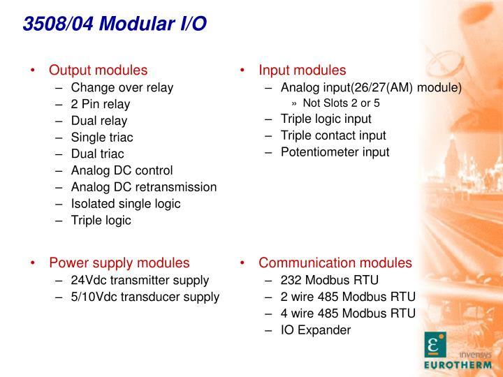 3508/04 Modular I/O