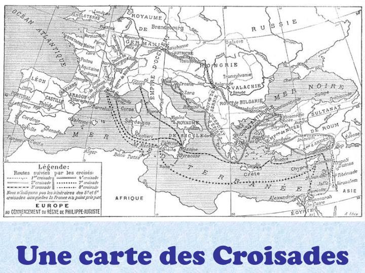 Une carte des Croisades