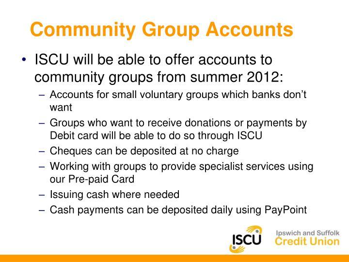 Community Group Accounts