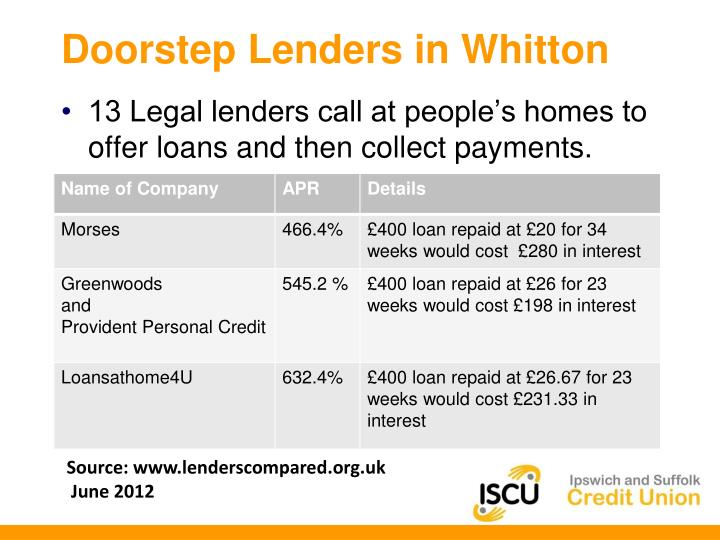 Doorstep Lenders in Whitton
