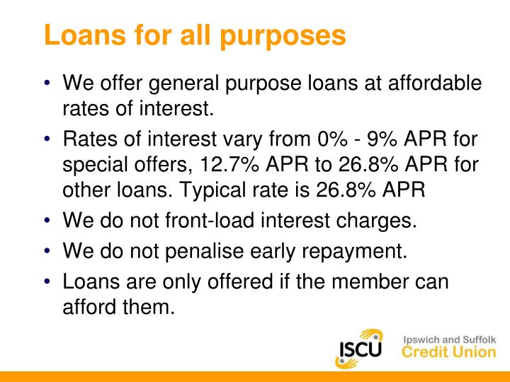 Loans for all purposes