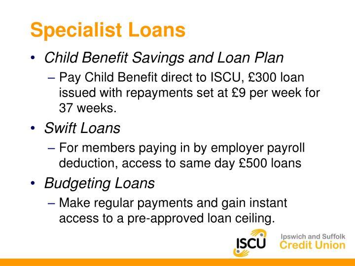 Specialist Loans