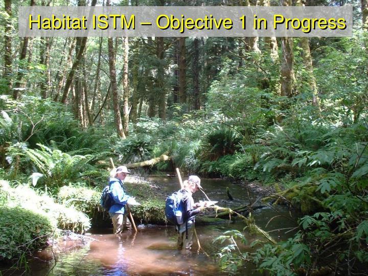 Habitat ISTM – Objective 1 in Progress