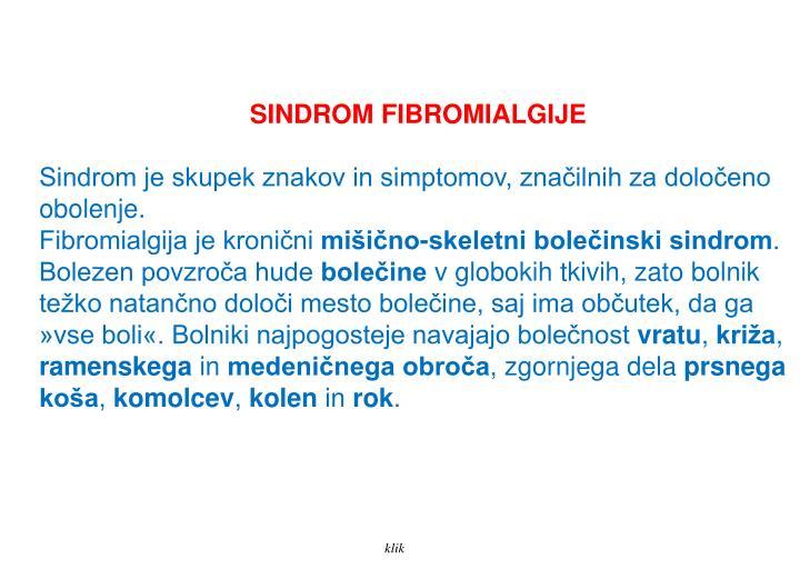 SINDROM FIBROMIALGIJE