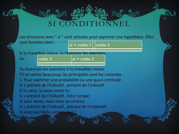 Si conditionnel