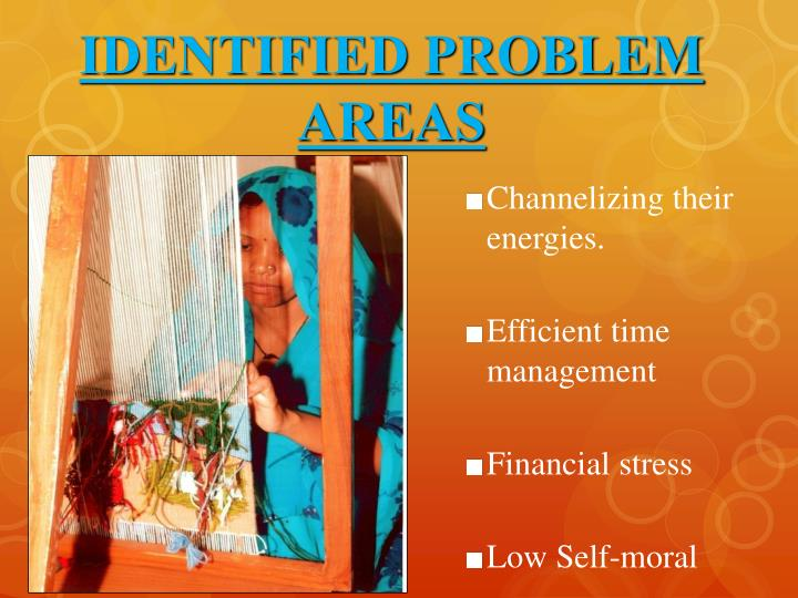 IDENTIFIED PROBLEM AREAS
