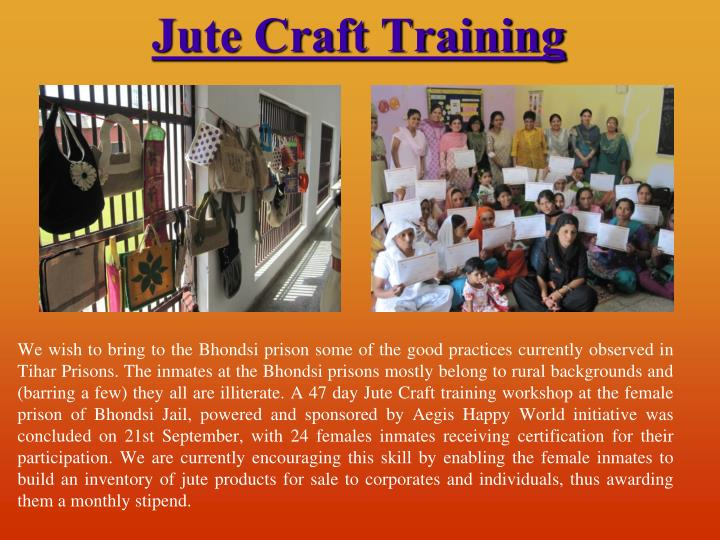 Jute Craft Training