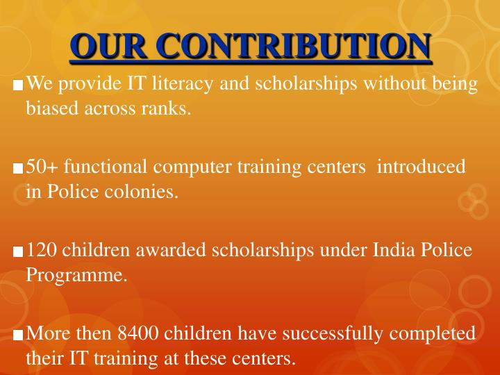 OUR CONTRIBUTION
