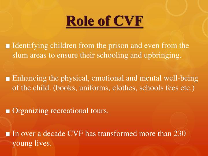 Role of CVF