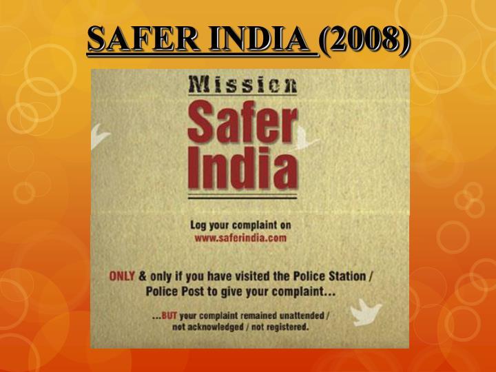 SAFER INDIA