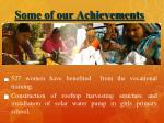 some of our achievements