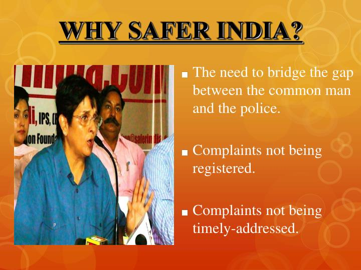 WHY SAFER INDIA?