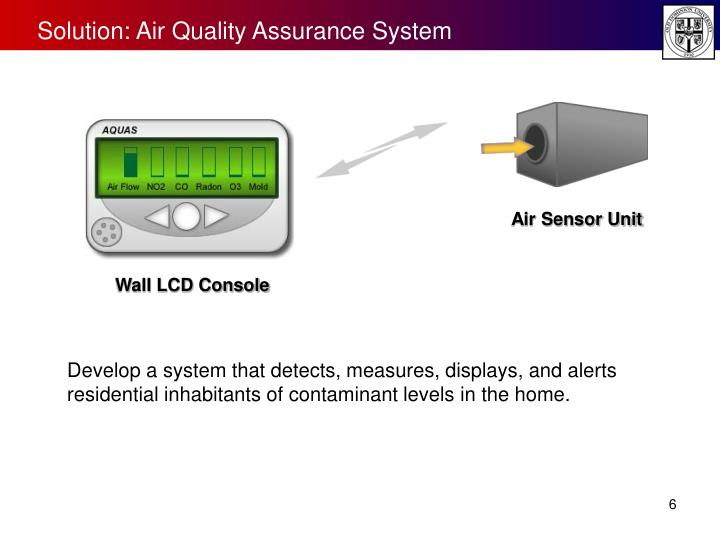 Solution: Air Quality Assurance System