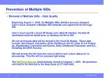 prevention of multiple sids1