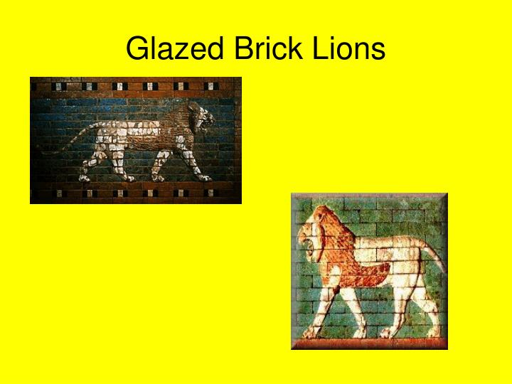 Glazed Brick Lions