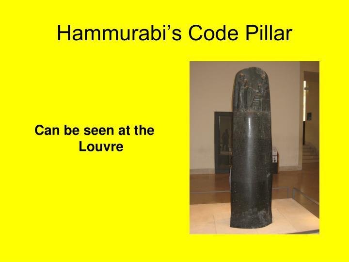 Hammurabi's Code Pillar