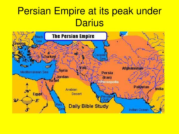 Persian Empire at its peak under Darius