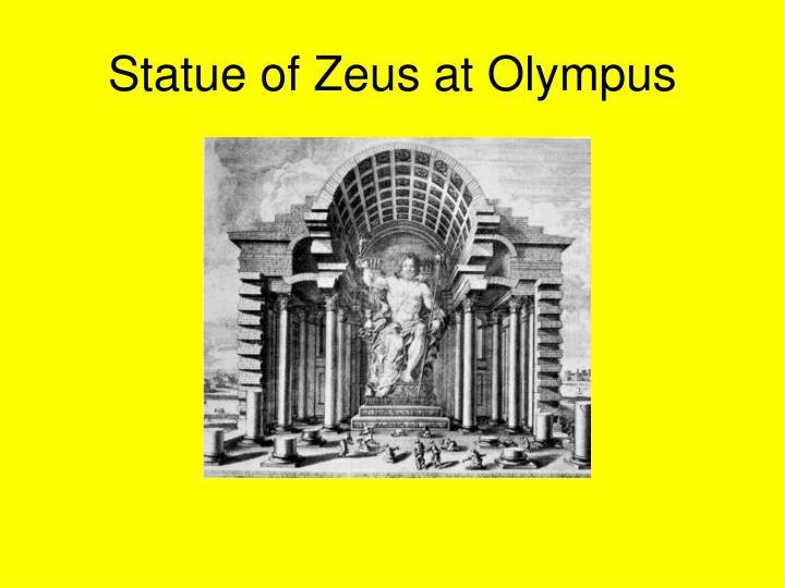 Statue of Zeus at Olympus