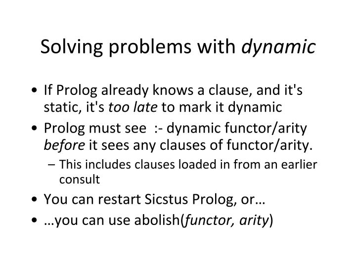 Solving problems with