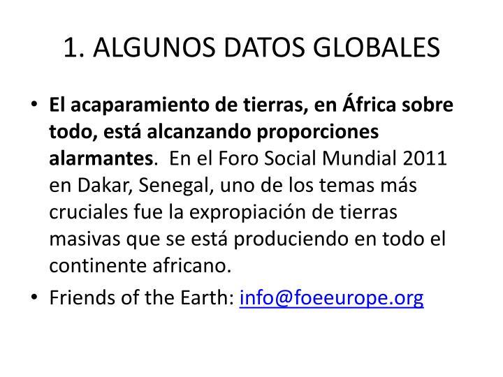 1. ALGUNOS DATOS GLOBALES