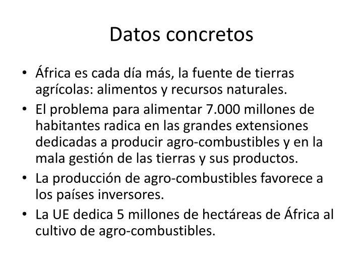 Datos concretos