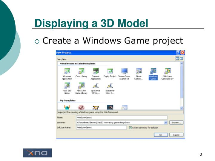 Displaying a 3d model