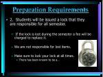 preparation requirements1