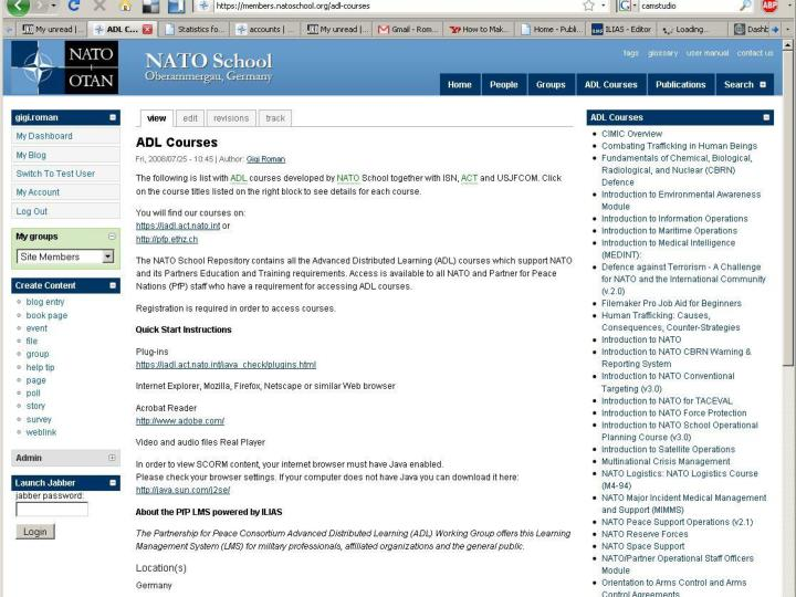 NATO School ADL Courses
