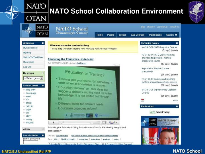 NATO School Collaboration Environment