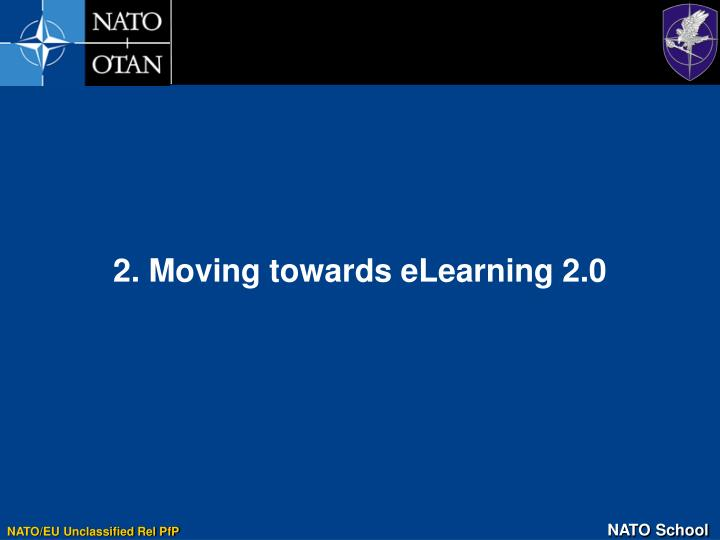 2. Moving towards eLearning 2.0