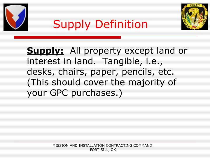 Supply Definition