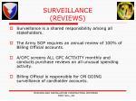surveillance reviews