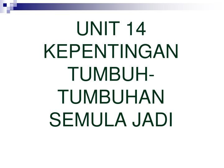 UNIT 14