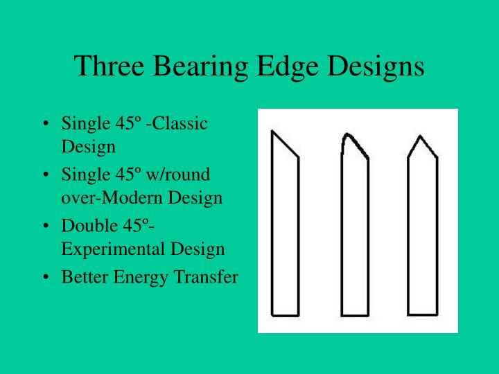 Three Bearing Edge Designs