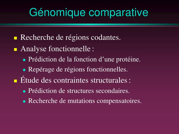 Génomique comparative