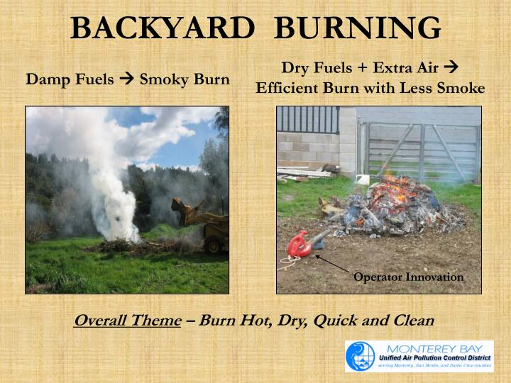 BACKYARD  BURNING