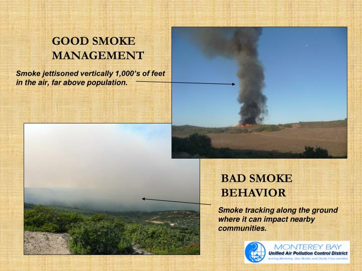 GOOD SMOKE 	MANAGEMENT