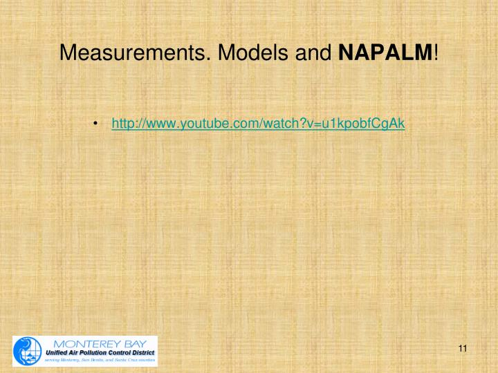 Measurements. Models and