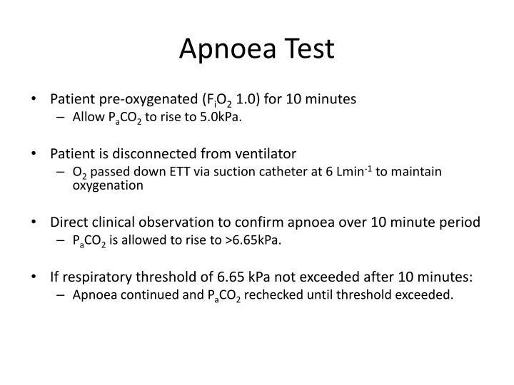 Apnoea Test