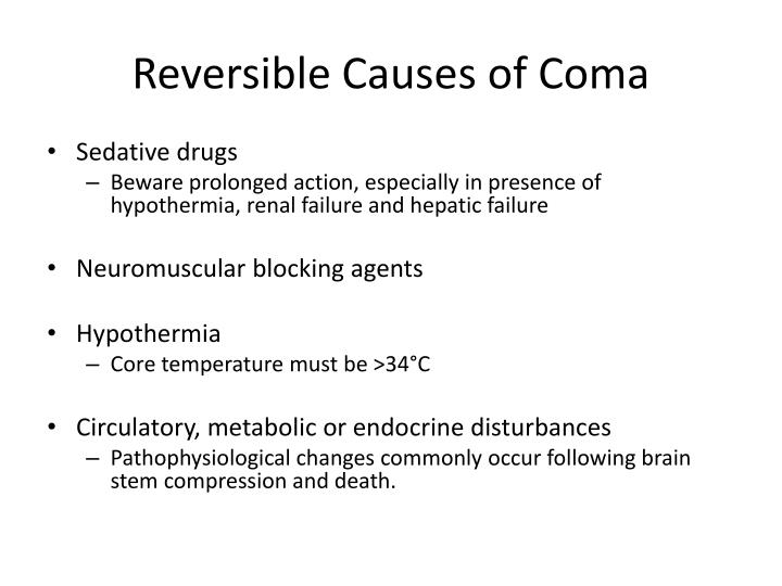 Reversible Causes of Coma