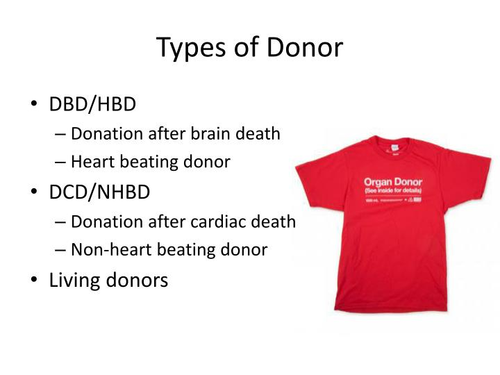 Types of Donor