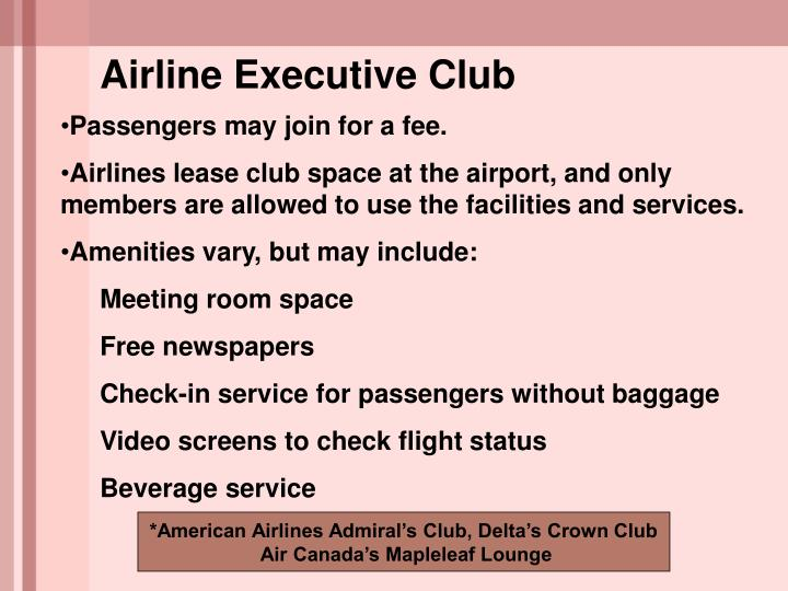 Airline Executive Club
