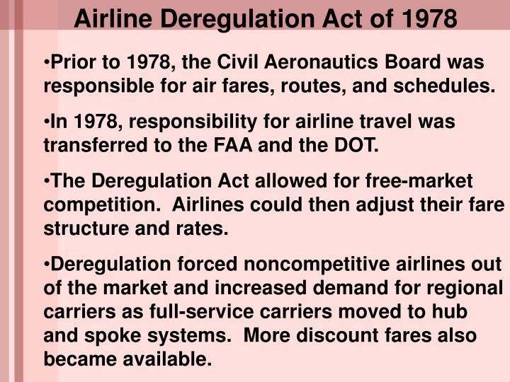 Airline Deregulation Act of 1978
