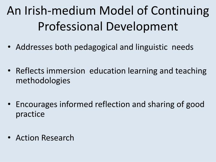 An Irish-medium Model of Continuing Professional Development
