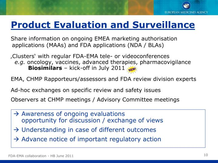 Product Evaluation and Surveillance