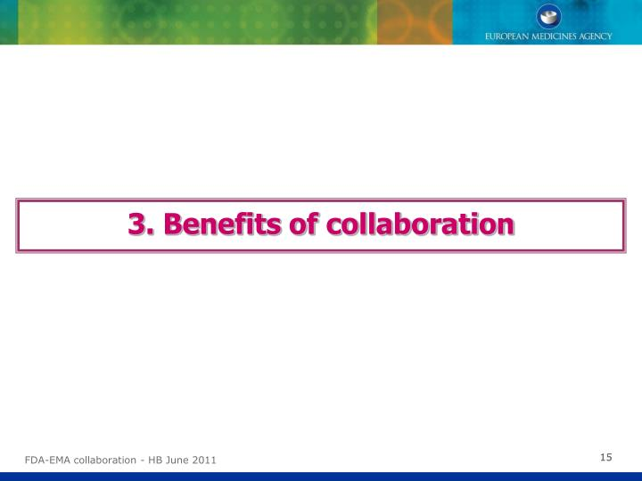 3. Benefits of collaboration