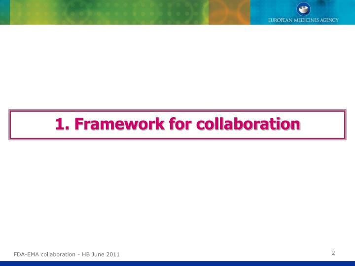 1. Framework for collaboration