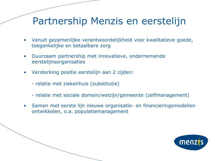 Partnership Menzis en eerstelijn