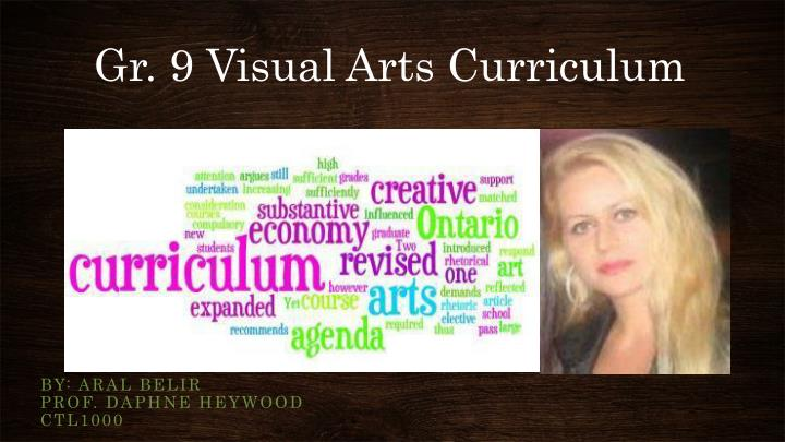 gr 9 visual arts curriculum